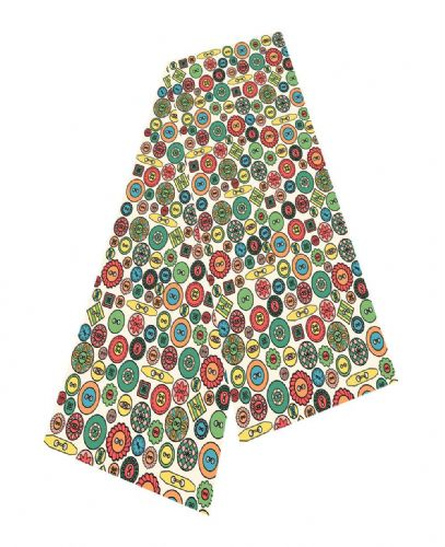 Selina-Jayne Buttons Limited Edition Designer Silk Scarf